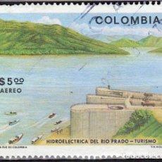 Sellos: 1979 - COLOMBIA - TURISMO - HIDROELECTRICA DEL RIO PRADO - TOLIMA - YVERT PA 640. Lote 150234926