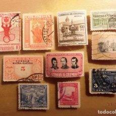 Sellos: COLOMBIA - LOTE DE 10 SELLOS - TEMA VARIOS.. Lote 150512394