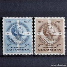 Sellos: COLOMBIA 1956 * FIJASELLOS * MH * ANIVERSARIO DE IGNACIO DE LOYOLA. Lote 154623698