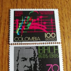 Sellos: COLOMBIA: YT. 754/55 MNH, MÚSICA, COMPOSITORES, BACH.. Lote 154799281