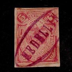 Sellos: CL2-478 ANTIGUO SELLO DE CORREOS DE MEDELLIN VALOR 5 CENTAVOS ROJO. Lote 156671002