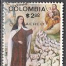 Sellos: COLOMBIA - UN SELLO - IVERT #652 - ***ELEVACION DE SANTA TERESA 1515-1582***- AÑO 1970 - USADO. Lote 159022102