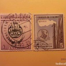 Sellos: COLOMBIA - INDUSTRIA Y ACERIAS - DEPARTAMENTO DE ANTIOQUIA Y BOYACÁ.. Lote 159643090