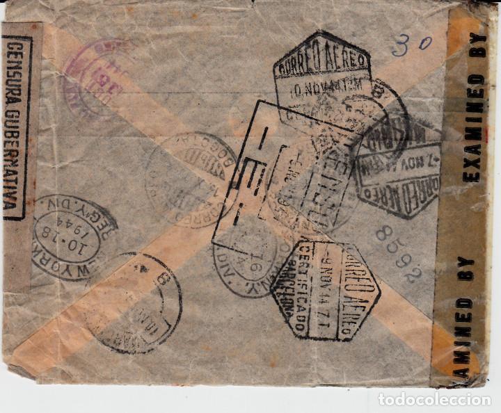 Sellos: SOBRE CIRCULADO DE COLOMBIA A BARCELONA CON CENSURA GUBERNATIVA Y MULTITUD DE MATASELLOS - Foto 2 - 162012290