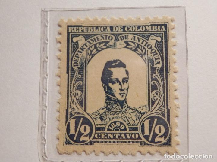 Sellos: COLECCIÓN - LOTE 11 SELLOS ANTIGUOS DE REPUBLICA DE COLOMBIA - ANTIOQUIA - NUEVOS - 1899 - Foto 2 - 165136230