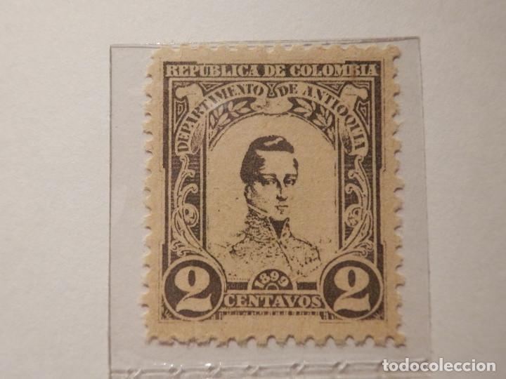 Sellos: COLECCIÓN - LOTE 11 SELLOS ANTIGUOS DE REPUBLICA DE COLOMBIA - ANTIOQUIA - NUEVOS - 1899 - Foto 4 - 165136230