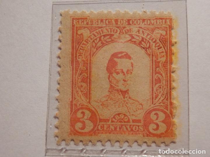 Sellos: COLECCIÓN - LOTE 11 SELLOS ANTIGUOS DE REPUBLICA DE COLOMBIA - ANTIOQUIA - NUEVOS - 1899 - Foto 5 - 165136230