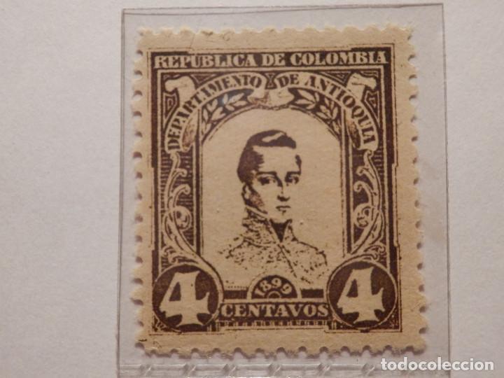 Sellos: COLECCIÓN - LOTE 11 SELLOS ANTIGUOS DE REPUBLICA DE COLOMBIA - ANTIOQUIA - NUEVOS - 1899 - Foto 6 - 165136230