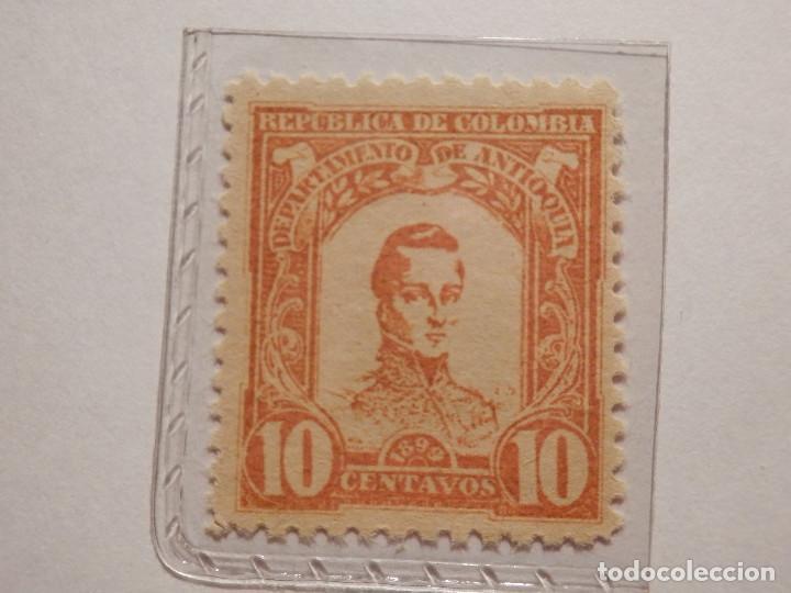 Sellos: COLECCIÓN - LOTE 11 SELLOS ANTIGUOS DE REPUBLICA DE COLOMBIA - ANTIOQUIA - NUEVOS - 1899 - Foto 8 - 165136230