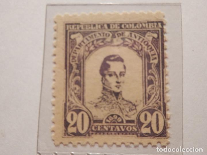 Sellos: COLECCIÓN - LOTE 11 SELLOS ANTIGUOS DE REPUBLICA DE COLOMBIA - ANTIOQUIA - NUEVOS - 1899 - Foto 9 - 165136230