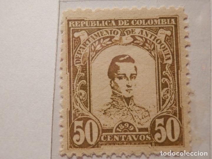 Sellos: COLECCIÓN - LOTE 11 SELLOS ANTIGUOS DE REPUBLICA DE COLOMBIA - ANTIOQUIA - NUEVOS - 1899 - Foto 10 - 165136230