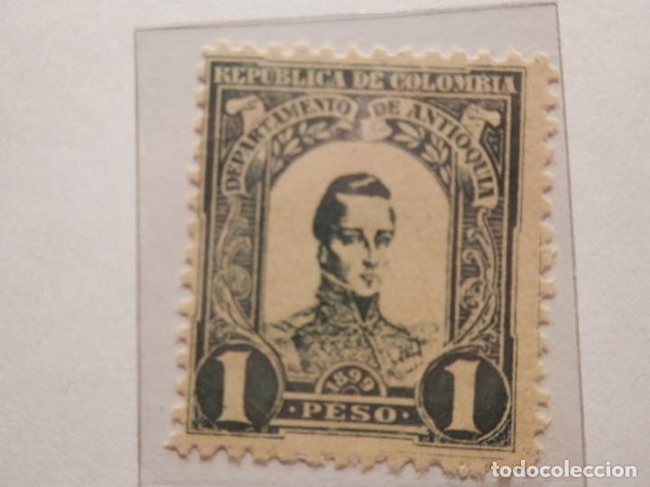 Sellos: COLECCIÓN - LOTE 11 SELLOS ANTIGUOS DE REPUBLICA DE COLOMBIA - ANTIOQUIA - NUEVOS - 1899 - Foto 11 - 165136230