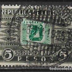 Sellos: COLOMBIA 1932-39 SC C110 5P GRAY BLK & EMER 20.00 - 5/35. Lote 167874932