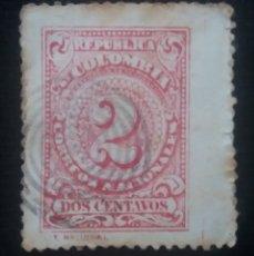 Sellos: CORREOS COLOMBIA, 2 CENTAVO, 1904, SIN USAR. Lote 179098697