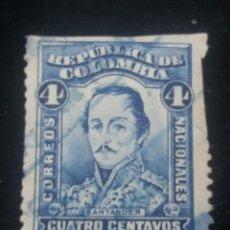 Sellos: CORREOS COLOMBIA, 4 CENTAVOS, SANTANDER,1926, SIN USAR.. Lote 179099838