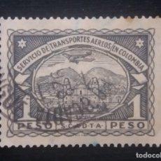 Sellos: CORREOS AEREO COLOMBIA, 1 PESO, SCADTA, 1923, . Lote 179101732