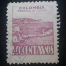 Sellos: CORREOS AEREO COLOMBIA, SOBREPORTE, 5 CENT, 1945, . Lote 179102563