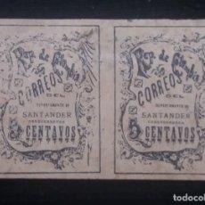 Sellos: CORREOS COLOMBIA, 5 CENTS, DEPARTAMENTO DE SANTANDER, 1870, . Lote 179104251