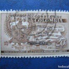 Sellos: -COLOMBIA 1959, SELLO SOBRECARGADO YVERT 328 AEREO. Lote 179535486
