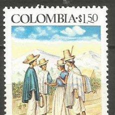 Sellos: COLOMBIA YVERT NUM. 695 ** SERIE COMPLETA SIN FIJASELLOS. Lote 241855385