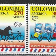 Sellos: COLOMBIA Nº 1017 Y AE 890 (**). Lote 193113371