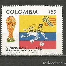 Francobolli: COLOMBIA YVERT NUM. 1018 ** SERIE COMPLETA SIN FIJASELLOS. Lote 210100508
