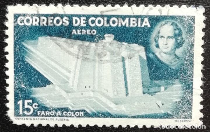 1956. COLOMBIA. A 285. PRO-CONSTRUCCIÓN DEL FARO DE COLÓN. USADO. (Sellos - Extranjero - América - Colombia)