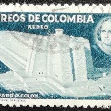 Sellos: 1956. COLOMBIA. A 285. PRO-CONSTRUCCIÓN DEL FARO DE COLÓN. USADO. . Lote 199040313