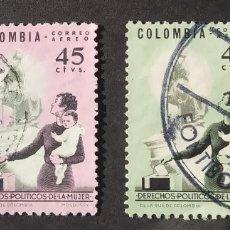 Sellos: SERIE COMPLETA 1963 COLOMBIA SUFRAGIO FEMENINO. Lote 210347122