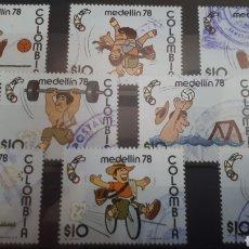 Sellos: SELLOS USADOS DE COLOMBIA MEDELLIN 78 Y13. Lote 202448087