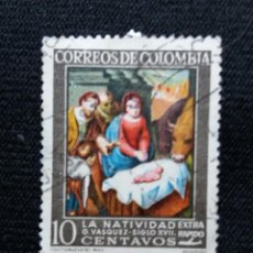 Sellos: COLOMBIA, 10C, ARETE Y RELIGION, AÑO 1968. NUEVO.. Lote 203623563