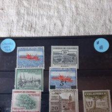 Sellos: COLOMBIA SERIE COMPLETA NUEVA 1956 TRATOR BARCO FLORA ARQUITECTURA. Lote 205539147