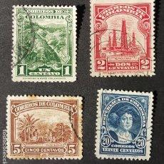 Sellos: 1932 COLOMBIA MINERÍA Y AGRICULTURA. Lote 206496008