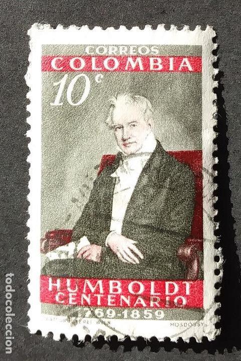 1960 COLOMBIA CENTENARIO NACIMIENTO HUMBOLDT (Sellos - Extranjero - América - Colombia)