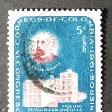 Sellos: 1962 COLOMBIA VI CONGRESO Y 75 ANIVERSARIO SOCIEDAD NACIONAL INGENIEROS. Lote 206830506