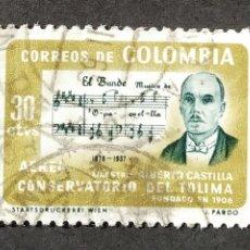 Sellos: 1964 COLOMBIA CONSERVATORIO DE TOLIMA. Lote 206831828