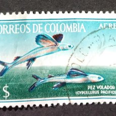 Sellos: 1965 COLOMBIA PECES. Lote 206832788