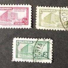 Sellos: IMPUESTO POSTAL 1945 COLOMBIA MINISTERIO CORREOS Y COMUNICACIONES. Lote 206834883