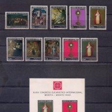 Sellos: COLOMBIA 1968 - XXXIX CONGRESO EUCARISTICO EN BOGOTA - YVERT Nº 637/641**+AEREO 483/487**+ HB 29**. Lote 207023038
