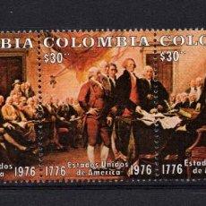 Sellos: COLOMBIA 698/700** - AÑO 1976 - BICENTENARIO DE LA INDEPENDENCIA DE ESTADOS UNIDOS. Lote 217933797