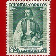 Sellos: COLOMBIA. 1946. JOAQUIN DE CAYZEDO Y CUERO. Lote 220373292