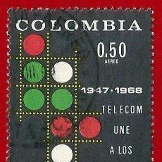 Sellos: COLOMBIA. 1968. TELECOMUNICACIONES. Lote 220629938