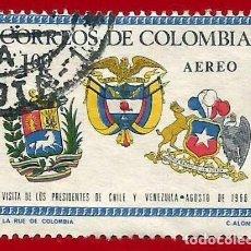Sellos: COLOMBIA. 1966. ESCUDOS NACIONALES. Lote 220630281