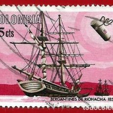 Francobolli: COLOMBIA. 1966. BARCO. BERGANTINES DE RIOHACHA. 1850. Lote 220630872