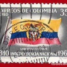 Sellos: COLOMBIA. 1960. INDEPENDENCIA NACIONAL. BANDERA. Lote 220674526