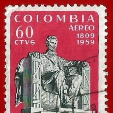 Sellos: COLOMBIA. 1960. ABRAHAM LINCOLN. Lote 220674645