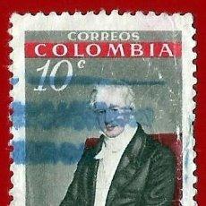 Sellos: COLOMBIA. 1960. ALEXANDER VON HUMBOLDT. NATURALISTA. Lote 220675505