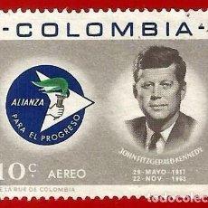 Francobolli: COLOMBIA. 1963. PRESIDENTE JOHN F. KENNEDY. Lote 220712485