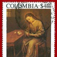 Sellos: COLOMBIA. 1975. GREGORIO VAZQUEZ. EL NIÑO DE LA ESPINA. Lote 220712777