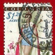 Sellos: COLOMBIA. 1959. LUZ MARINA ZULOAGA. MISS UNIVERSO. Lote 220737616